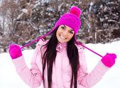 Pretty girl outdoor — Stock Photo