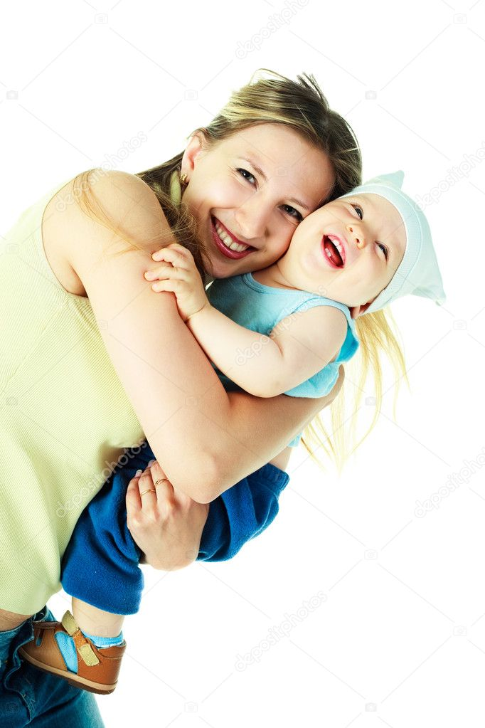 Happy young beautiful mother with her baby  Stock Photo #1905140