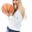 Beautiful girl with a ball — Stock Photo #1915870