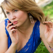 Womtalking on cell-phone — Stock Photo #1916016