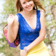 Girl with a shopping bag — Stock Photo #1916037
