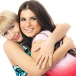 Two happy embracing friends — Stock Photo #1916523
