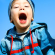 screaming child outddor — Stock Photo