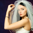 Sexy brunette bride - Stock Photo