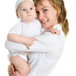 glad mamma med sin bebis — Stockfoto