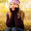Lonely pretty girl — Stock Photo