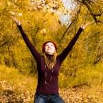 Happy girl in the park — Stock Photo