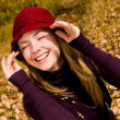 Laughing girl in the park — Stock Photo