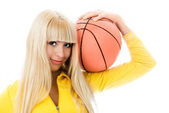 Beautiful girl with a ball — Stock Photo