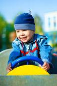 счастливый ребенок открытый — Стоковое фото