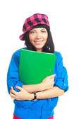 Estudiante con una carpeta — Foto de Stock