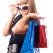 Stock Photo: Stylish woman with shopping bags