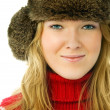 Beautiful woman wearing warm winter clothes — Stock Photo