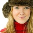 Beautiful woman wearing warm winter clothes - Stock Photo