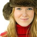 Beautiful woman wearing warm winter clothes — Stock Photo