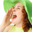 Screaming young woman - Foto Stock