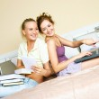 Two students at home — Stock Photo #1941853