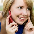 Stock Photo: Girl talking on phone