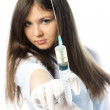 Woman giving an injection — Stock Photo #1945783