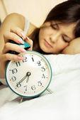 Young sleeping woman — Stock Photo