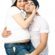 Happy pregnant woman and her husband — Stock Photo