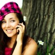 Pretty girl talking on the cellphone — Stock Photo #1993982