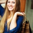 Girl with shopping bags — Stockfoto