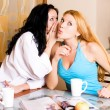 Gossiping women in the kitchen — Stock Photo
