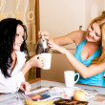 Two girls gossiping — Stock Photo #1994487