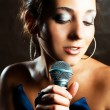 Sexy singer — Stock Photo