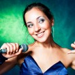 Young singer - Stock Photo