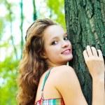 Girl outdoor — Stock Photo