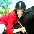 Stock Photo: Young rider