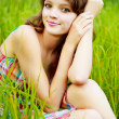 Stock Photo: Pretty womoutdoor