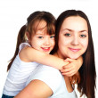 Foto Stock: Happy mother and daughter