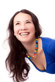 Smiling brunette woman — Stock Photo