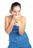 Giggling girl — Stock Photo