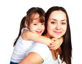 Happy mother and daughter — Fotografia Stock