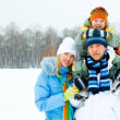 Family outdoor — Stock Photo