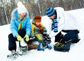 Aile buz pateni — Stok fotoğraf