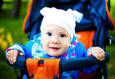 Baby in the carriage — Stock Photo
