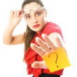 Businesswoman has a question — Stock Photo #2242566