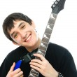 Stock Photo: Boy with guitar
