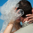 Bride and groom outdoor - Foto Stock