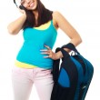 Girl with a rucksack — Stock Photo #2559690