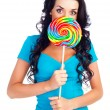 Girl with a lollipop — Stock Photo #2560396
