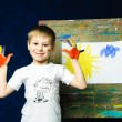 Stock Photo: Little painter