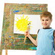 Royalty-Free Stock Photo: Little painter