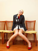 Businesswoman on the chair — Stock Photo