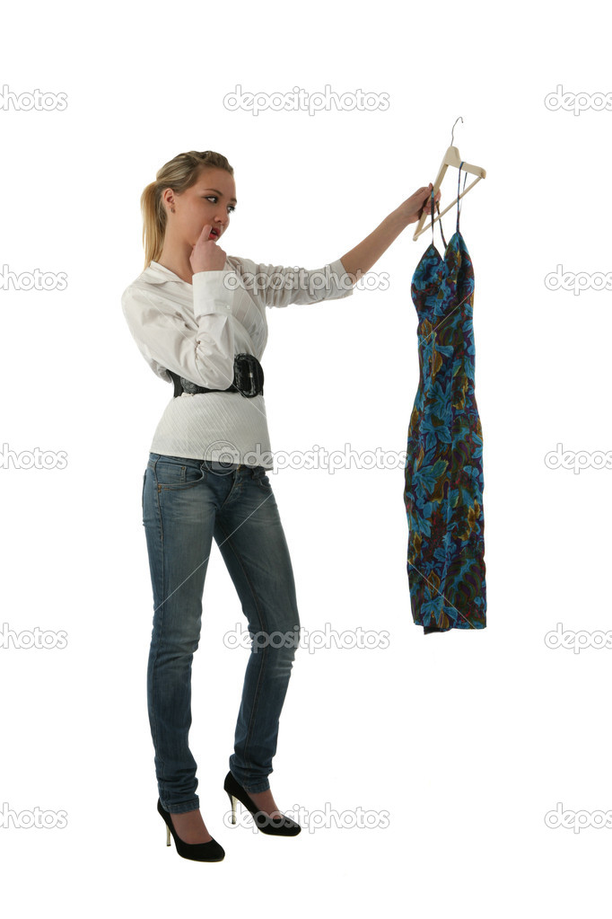 Girl trying on clothes  Stock Photo #1805557
